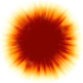 Um design de cor vermelha com uma explosão. eps 8 — Vetorial Stock