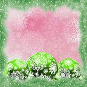 Zielony i różowy kartki świąteczne. eps 8 — Wektor stockowy