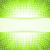 緑の技術の正方形のバーストをフレアします。eps 8 — ストックベクタ