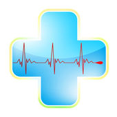 Heart medical cross. EPS 8 — Stock Vector