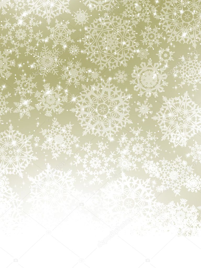 Elegant Christmas background with snowflakes. EPS 8 vector file included  Stock Vector #11474769