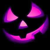 Jack O Lantern pumpkin illuminated green. EPS 8 — Stock Vector