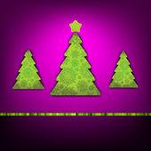 Christmas trees card template. EPS 8 — Stock Vector