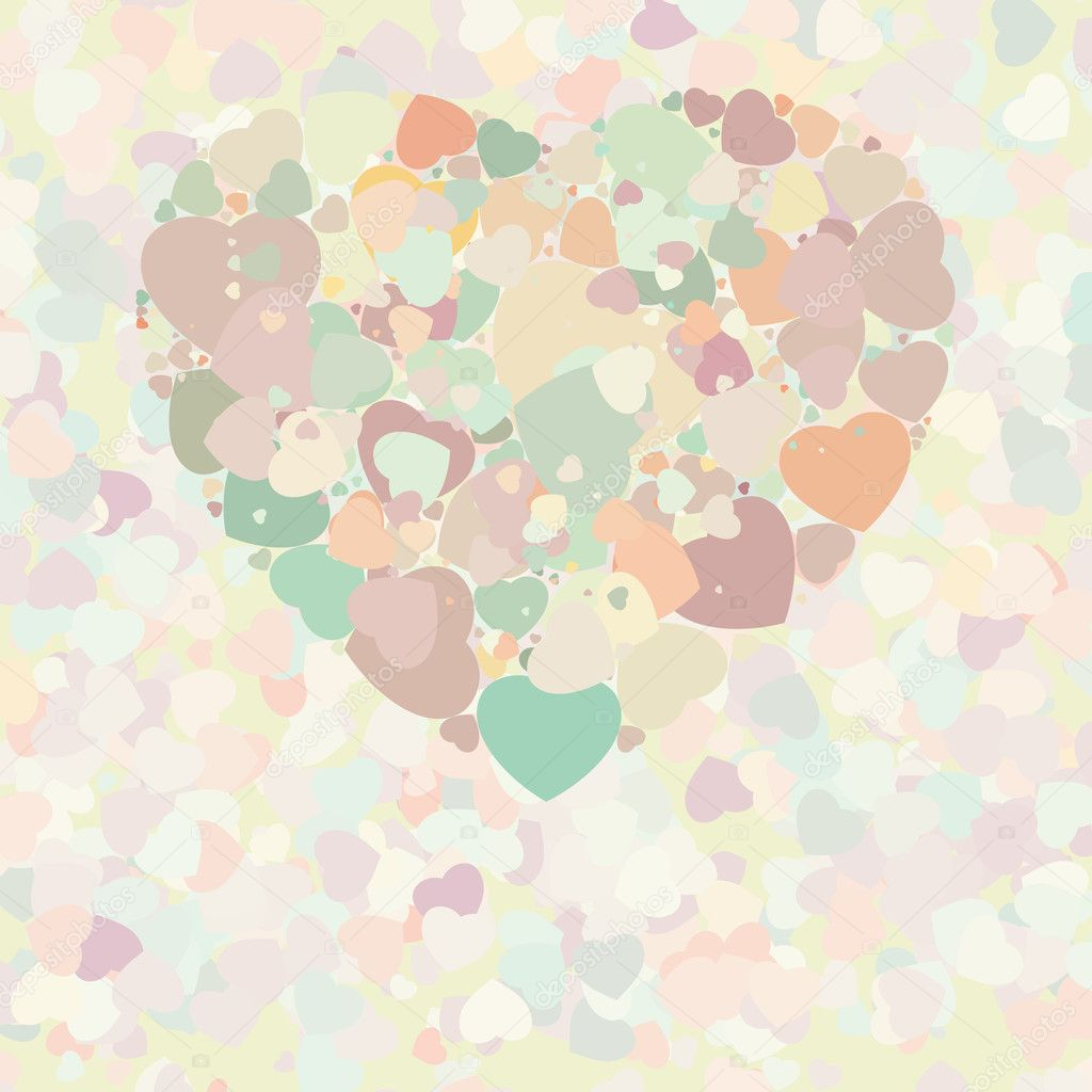 Vintage Heart Background Abstract vintag...