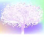 Stylized love tree made of hearts. EPS 8 — Stockvector