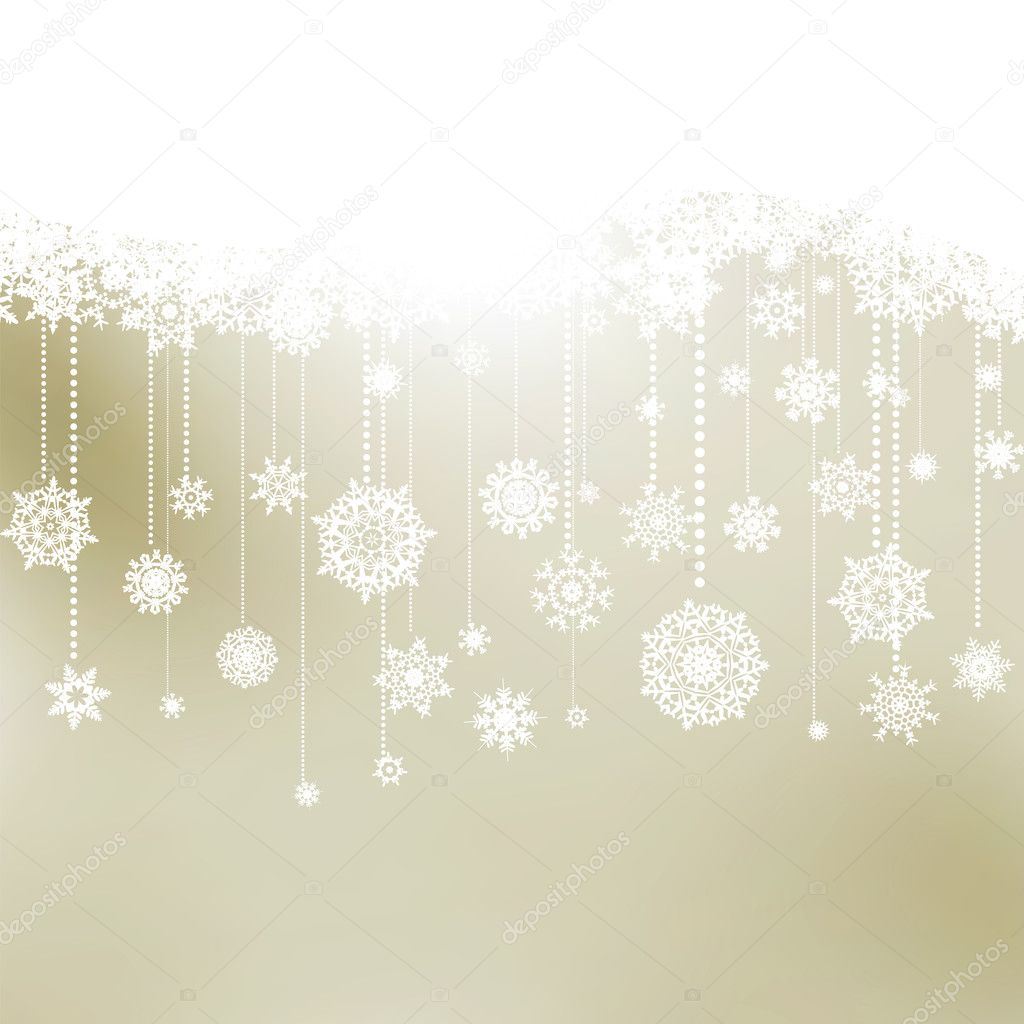 Christmas background with snowflakes. EPS 8 vector file included  — Stock Vector #11753781
