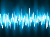 Las ondas de sonido oscilante brillar la luz. eps 8 — Vector de stock