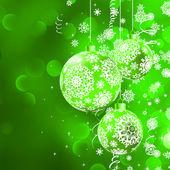 Christmas balls with stars. EPS 8 — Stock Vector