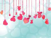 バレンタインデーの背景。eps 8 — ストックベクタ