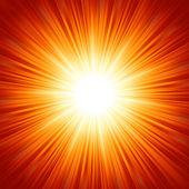 Star burst röda och gula brand. eps 8 — Stockvektor
