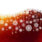 Christmas background with snowflakes. EPS 8 — Wektor stockowy
