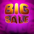 Royalty-Free Stock Vector Image: Zoom shine text Big Sale on purple. EPS 8