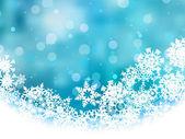 Fondo azul con copos de nieve. eps 8 — Vector de stock