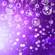 Violet christmas ball on holiday background. EPS 8 - Vettoriali Stock
