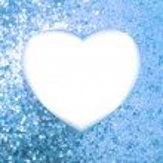 Blue frame in the shape of heart. EPS 8 — Stock Vector #12386123