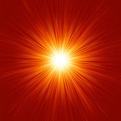 Star burst red and yellow fire. EPS 8 — Stock Vector