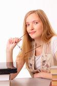çekici genç bir öğrenci kadın — Stok fotoğraf