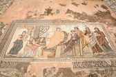 Ancient Greek mosaic in Archaeological Park in Paphos, Cyprus — Stock Photo