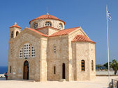 Church of St. George on Mediterranean Sea coast near of Paphos, Republic of Cyprus — Stock Photo