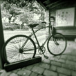 Vintage bicycle in black and white -  