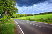 An empty road in the countryside — Stock Photo