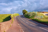 Beautiful Scottish road in the countryside — Stock Photo