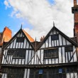 Old, historic architecture in the streets of York, England — Foto de Stock