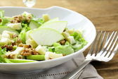 Salad with apples, walnuts and cheese — Stock Photo