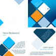 Stock Vector: Blue Brochure