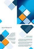Blue Brochure — Stock Vector