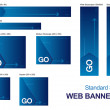 Standard Size Web Banners — Stock Vector #11971588