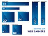 Standaard grootte webbanners — Stockvector