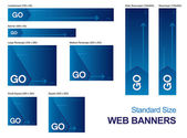Standard Size Web Banners — Stock Vector