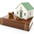 3ä illustration: Protection of the rights of a private property. — Stock Photo