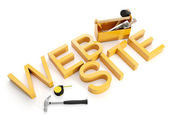 Illustrazione 3d: costruzione e riparazione di siti Web. Web Design — Foto Stock