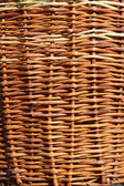 Detail of wicker basket with willow twigs — Stock Photo