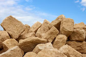 Heap of limestone blocks — Stock Photo