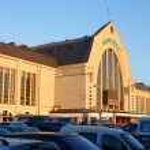 Railway station in Kiev, Ukraine — Stock Photo