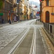 Stock Photo: Old cobbled road in Lviv, Ukraine