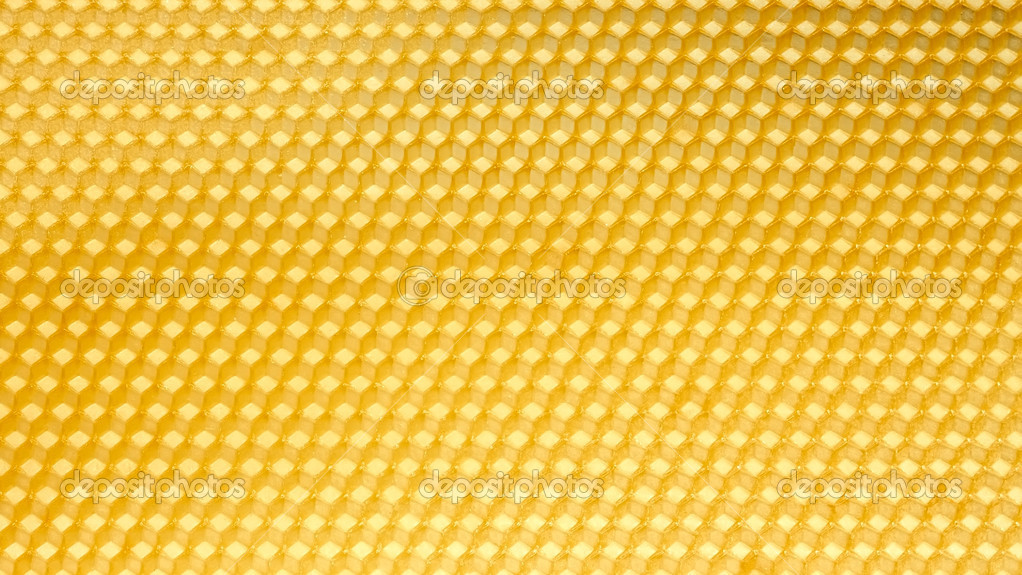 Wax template for honeycomb as a periodic structure — Stockfoto #11424974