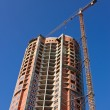 Construction of skyscraper - Stock Photo