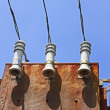 Detail of old electrical transformer — Stock Photo