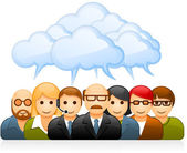 Brainstorming business team — Stock Vector