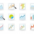 Statistics and analytics icons — Stock Vector #11619151