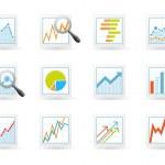 Постер, плакат: Statistics and analytics icons