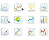 Statistieken en analytics pictogrammen — Stockvector