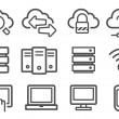 Royalty-Free Stock Vector Image: Cloud computing icons