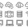 Cloud computing icons — Stock Vector