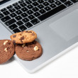 Cookies on a computer — Stock Photo