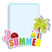 Beach and summer background — Stock Vector